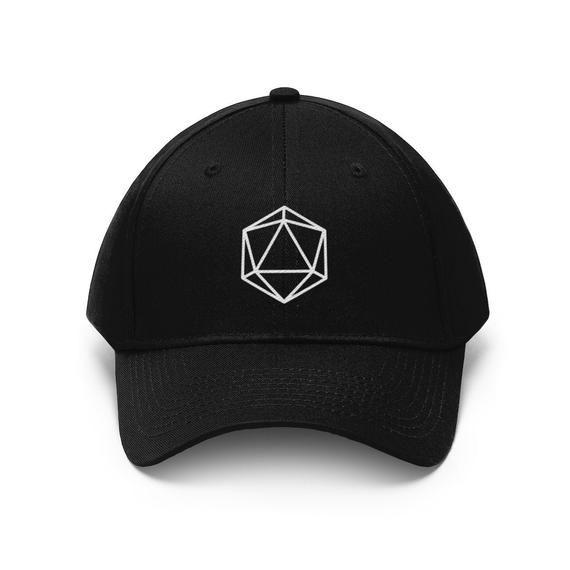 D20 Dice Hat Rpg Gamer Cap D D Embroidered Hats Dungeons Etsy Embroidered Hats Hats Gaming Gifts