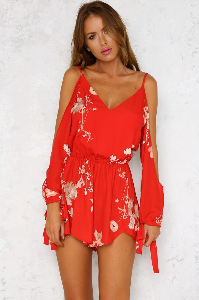 Second Glance Romper Red by Hello Molly... In love!