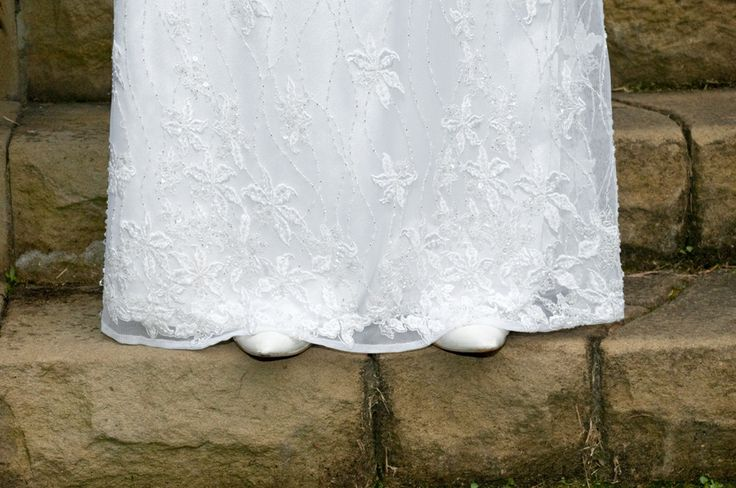 Wedding Dress Photo Idea. #bridal gown #white #vintage #bridal shoes.