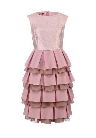 Платье от Lamania Trend решено в нежно-розовом оттенке. Материал из креп-сатина, легкие шифоновые оборки на подоле. Детали: потайная молния на спинке, вытачки, приглушенная цветовая гамма. http://j.mp/1pP7dOp