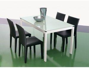 Look tavolo allungabile in vetro tavolo rettangolare for Consolle allungabile laccata bianca