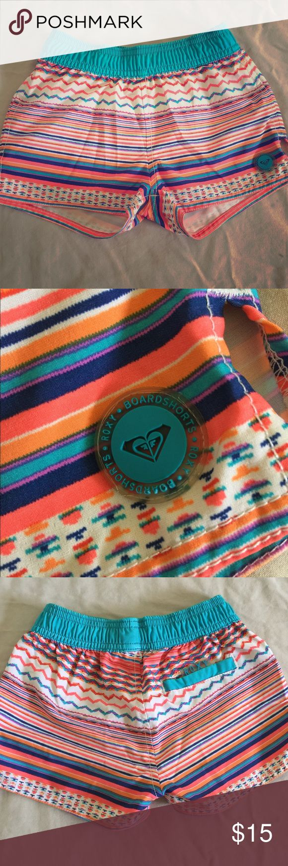 Girls Board Shorts Barely worn. Great condition, NO Damages. Fits girl's size 7/8 Roxy Swim Swim Trunks