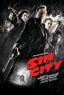 Sin City (2005) A film that explores the dark and miserable town, Basin City, and tells the story of three different people, all caught up in violent corruption.