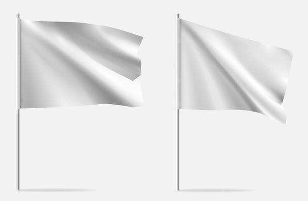 White Clean Horizontal Waving Template Flag In 2021 Flag Template Horizontal Flag