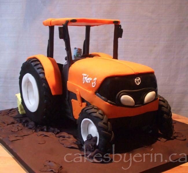 Kubota Tractor Cake  Cake Creations  Tractor birthday cakes Dad birthday cakes Cake