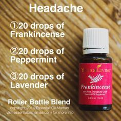 Headache roller bottle blend Are you interested in learning more about Young Living Essential Oils? Do you want to join me and become a Lemon Dropper? Contact me: Terra Goodrich; Member #2917574 ; terra_goodrich1708@yahoo.com