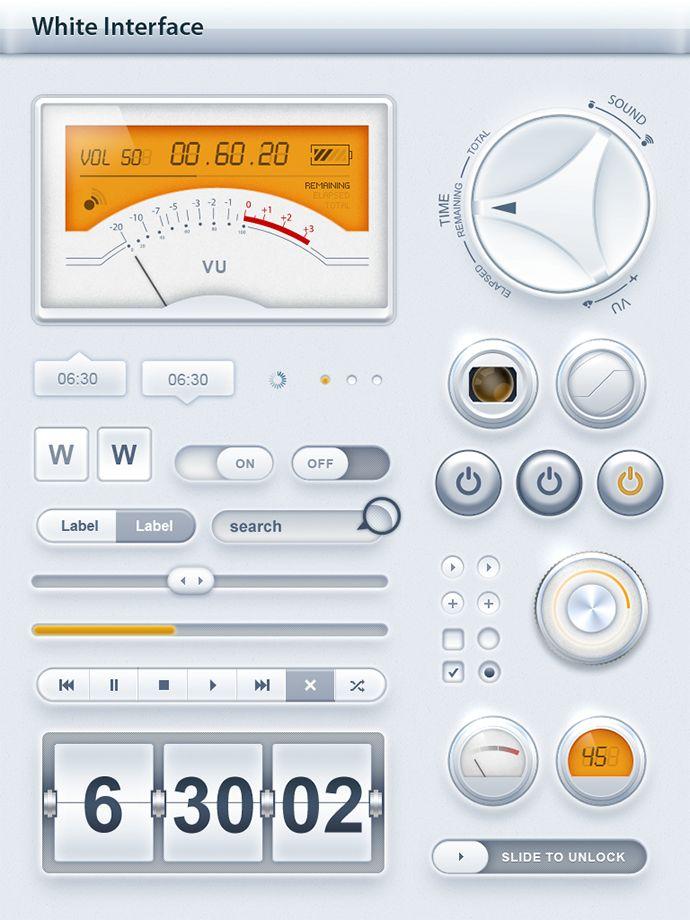 Tablet / Phone User Interface White SET