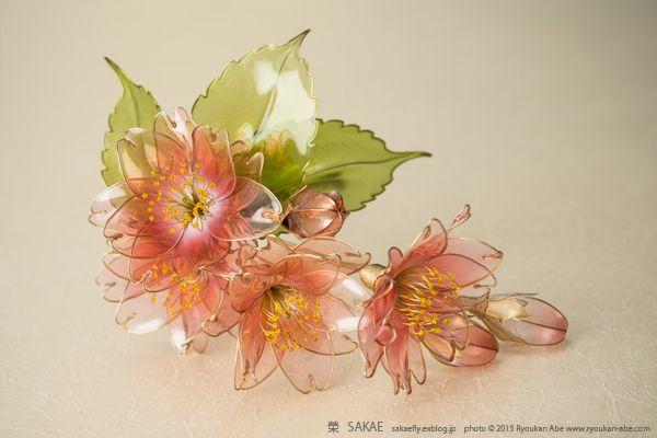 桜 Cherry Blossom : 榮 - kanzashi sakae - 簪作家