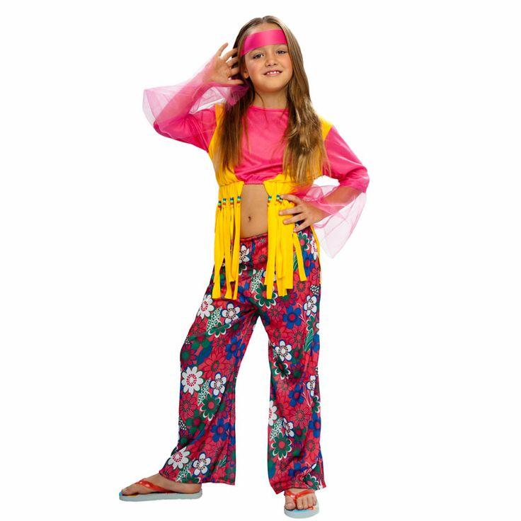 un clsico de nuestro catlogo de disfraces infantiles el disfraz de nia hippie estampados