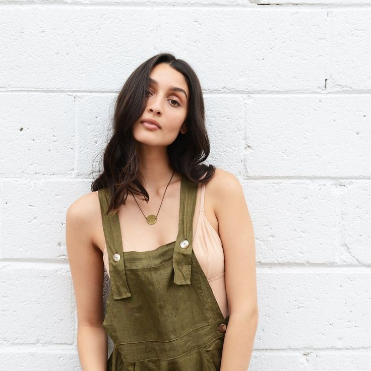 Jade Overalls In Khaki By OPIA