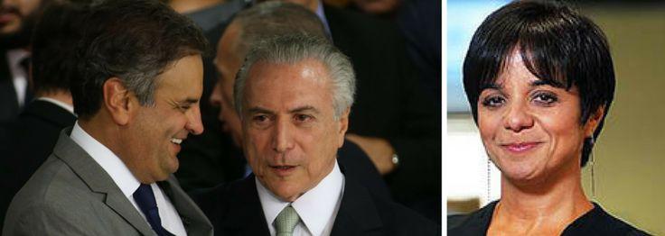 """PSDB AINDA NÃO ABANDONOU TEMER POR TEMER PRISÃO DE AÉCIO, DIZ VERA MAGALHÃES  A colunista Vera Magalhães diz que Michel Temer e Aécio Neves, ambos atolados em denúncias de corrupção, acabam se escorando um no outro e, assim, os tucanos seguem sem abandonar o barco do governo; """"o destino de Temer está ligado ao de Aécio Neves. Se o peemedebista for jogado aos leões, sem foro, o PMDB imediatamente deixará de atuar na retranca do pedido de prisão de Aécio, que deve voltar à pauta do Supremo""""…"""