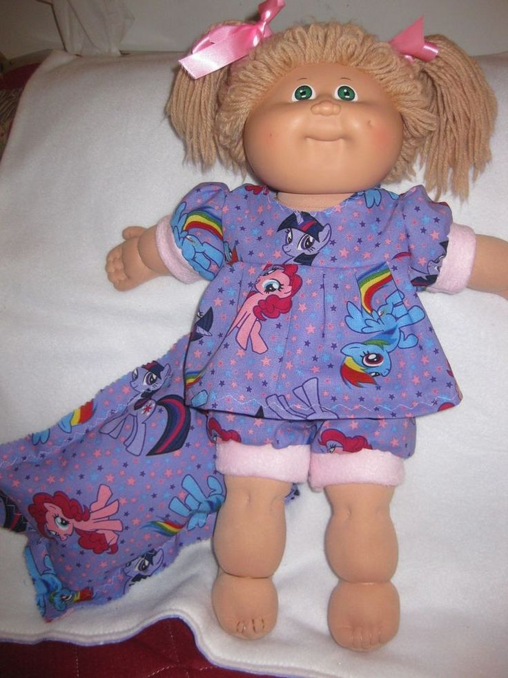 Cabbage Patch doll clothes/My Little Pony purple dress w/pantaloons/pillow