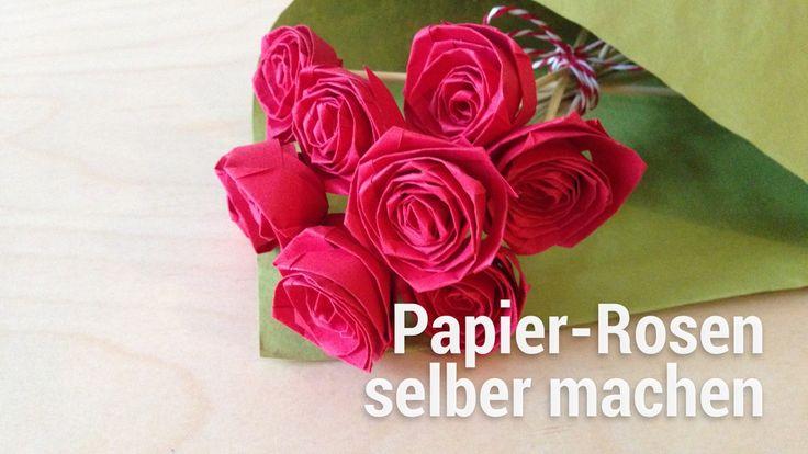 Statt teure Rosen aus Kenia, bastele deine Rosen einfach selbst! So einfach wird's gemacht! ➡ Zur Anleitung: http://www.smarticular.net/papierrosen-falten-or...