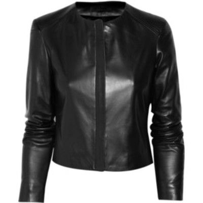 Rider Collarless Leather Jacket