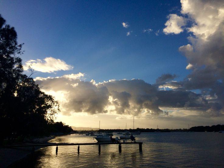 Noosa river at sunset