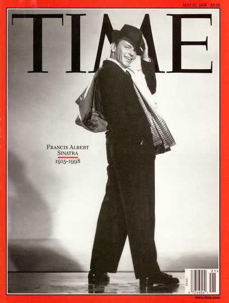 Classic Frank Sinatra in fedora magazine cover