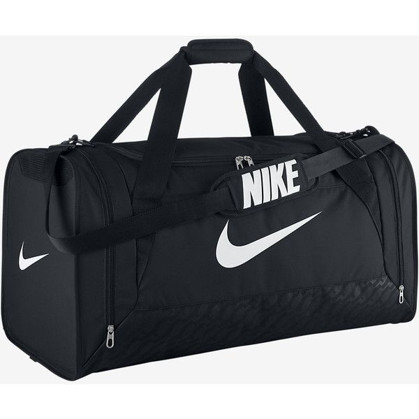 Nike Brasilia 6 (Large) Duffel Bag. Nike.com ($50) ❤ liked on Polyvore featuring bags, duffle bag, duffel bags, nike bag and nike