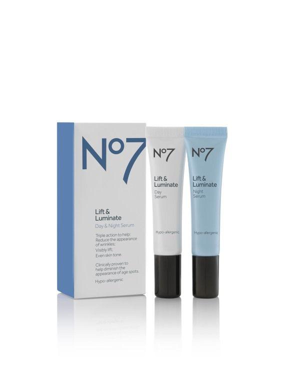 No7 Lift & Luminate Day & Night Serum 2x15ml http://nl.boots.com/no7-lift-luminate-day-night-serum-30ml.html