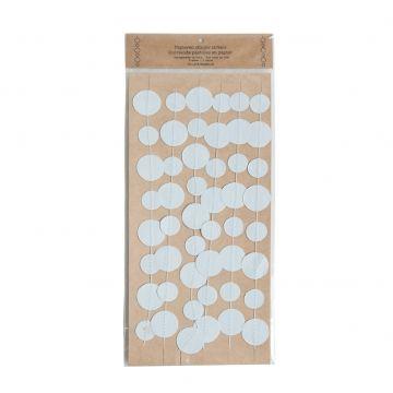 Slinger, papier, cirkels, grijsblauw - Dille & Kamille - 3 m - €3,95