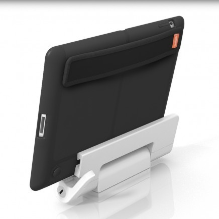 USE YOUR IPAD AS A DISPLAY SCREEN – ANYWHERE  Slide a modulR Slim or Tough Case on to the Swing Mount and your iPad quickly becomes a useful under-cabinet or desktop display with a full range of motion.