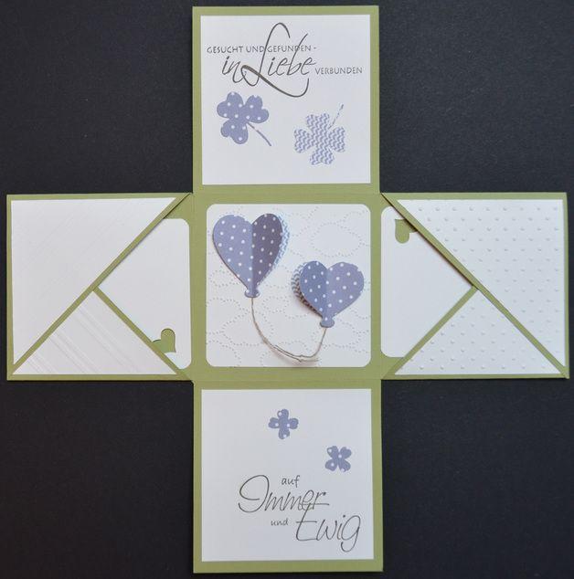 """Weiteres - Explosionsbox Geldgeschenk Hochzeit """"Glück... - ein Designerstück von lagisidesign bei DaWanda"""