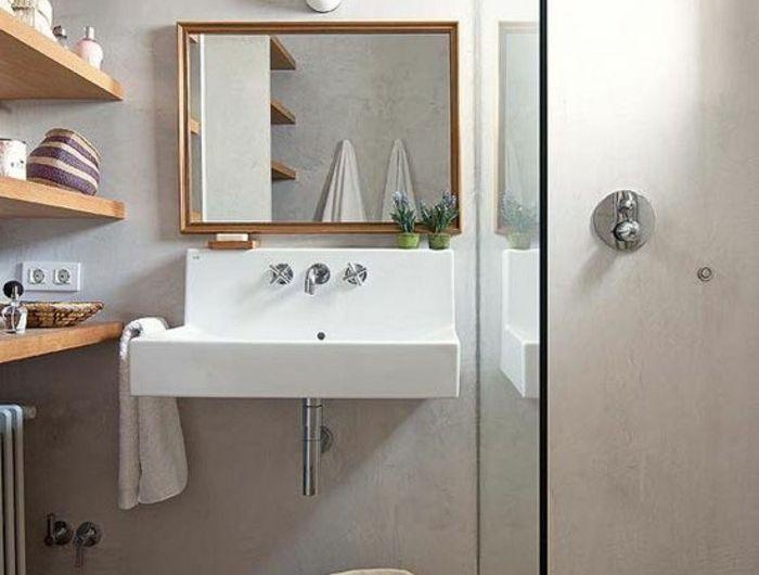 Les 25 meilleures id es de la cat gorie salle de bain en b ton sur pinterest for Idee salle de bain 4m2