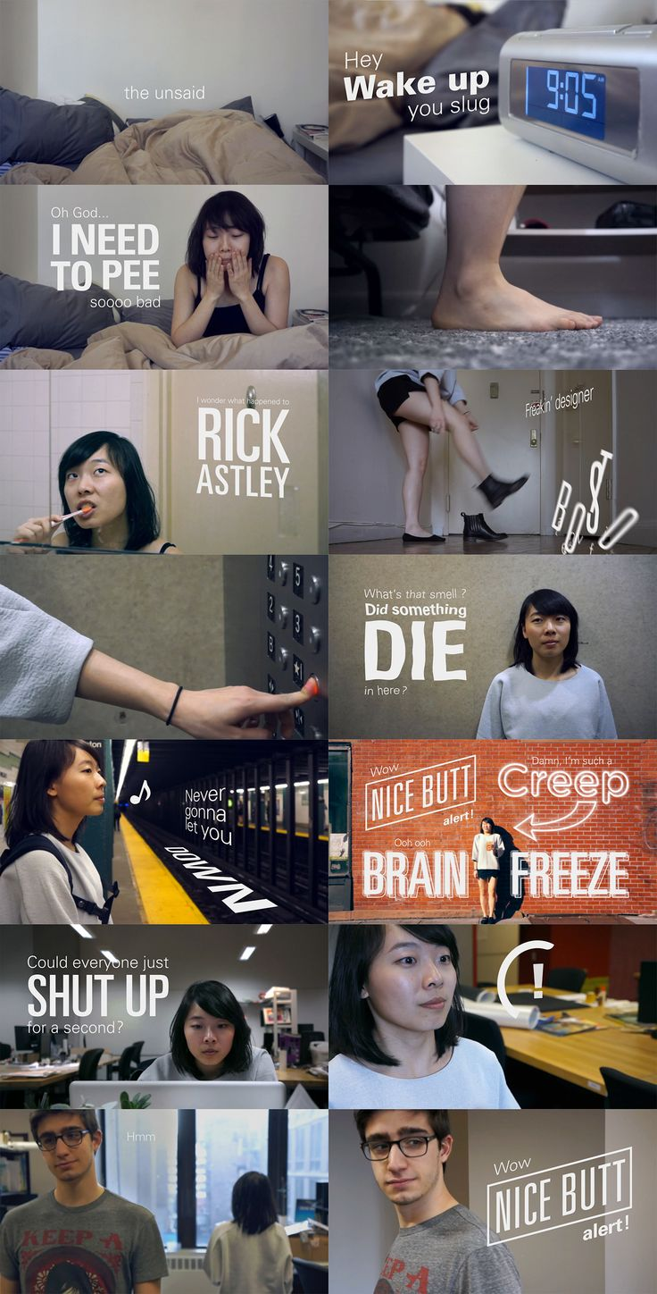 The unsaid - Short film created for a typography & motion graphics assignment at Pratt Institute - Julien Noguera on Behance