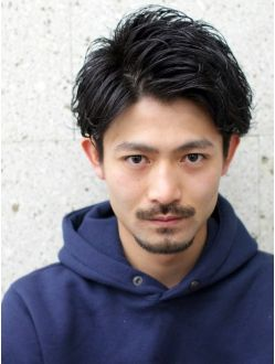 Asian men's hair style