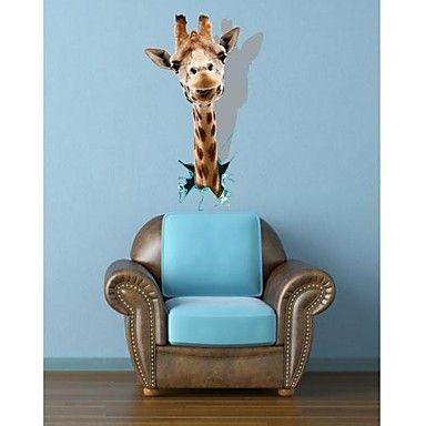 3D TheGiraffe Wall Stickers Vægoverføringsbilleder - DKK kr. 151