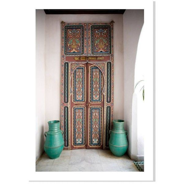 Domino Door In Tangier 20 x14 (48 CAD) ❤ liked on Polyvore featuring home, home decor, wall art, posters, canvas home decor, black poster, white canvas wall art, black white home decor and white wall art