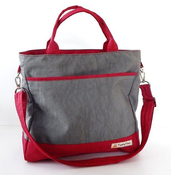 Sale – Grey Water-Resistant bag – Shoulder bag, Messenger bag, Tote, Travel bag, Diaper bag, Crossbo