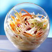 Recette coleslaw léger aux cranberries