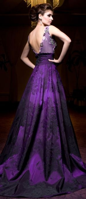 "I dreamed of getting married in a gown like this. Unfortunately, the first time someone said, ""What?! Royal purple, for your wedding dress?!"" I gave up on the idea. :-("