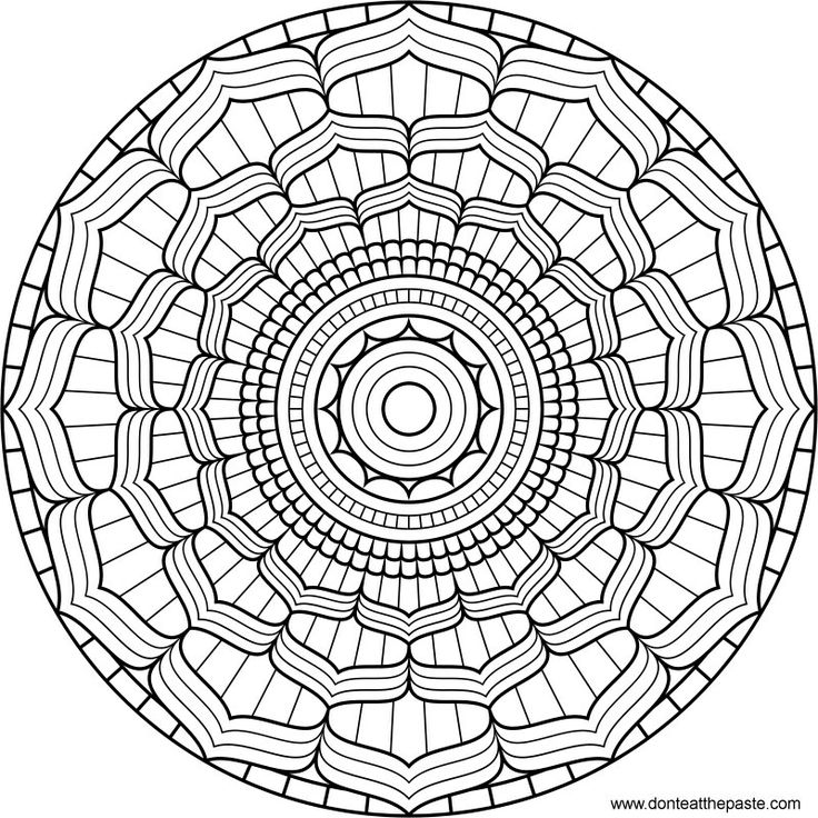 lotus mandala to color  coloring  art  paper  crafts  free