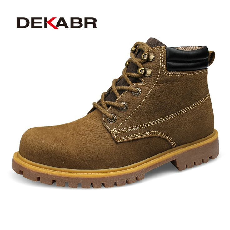 DEKABR Brand Men Boots Genuine Leather Lace-Up Warm Winter Fur Men's Military Boots Footwear Ankle Boots Plus Big Size 36~48 #Men's footwear http://www.ku-ki-shop.com/shop/mens-footwear/dekabr-brand-men-boots-genuine-leather-lace-up-warm-winter-fur-men-s-military-boots-footwear-ankle-boots-plus-big-size-36-48/