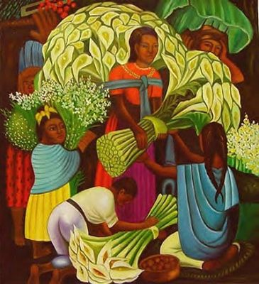 Diego Rivera, Mexican artist esp. famous for his murals. (Married to Frido Kahlo, also Mexican artist.)