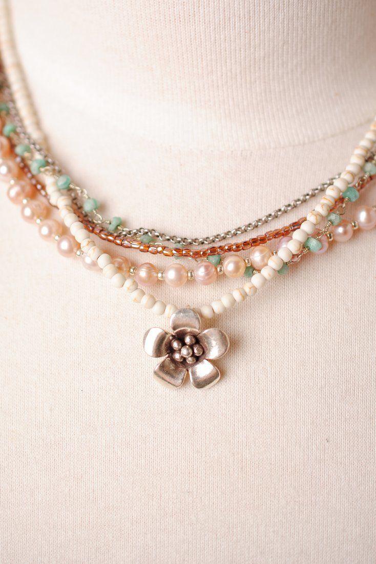 "Anne Vaughan Designs - Multistrand 16.5-18.5"" Flower Pendant Necklace, $98.00 (https://www.annevaughandesigns.com/multistrand-16-5-18-5-flower-pendant-necklace-for-women/)"