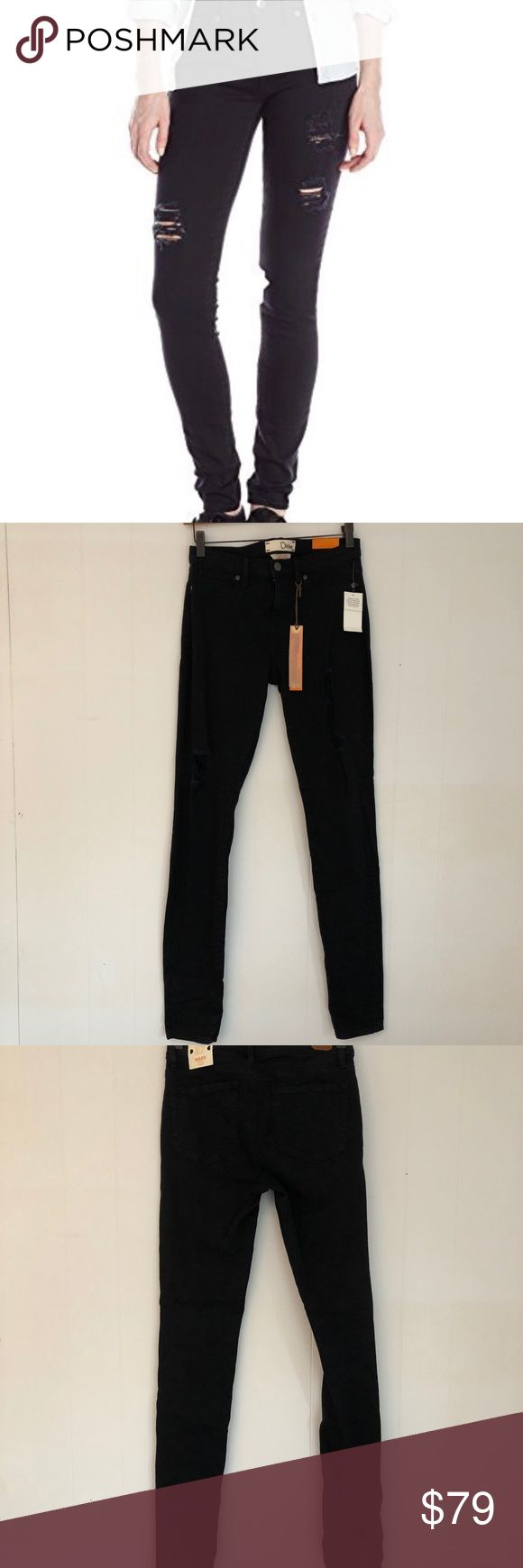 Dittos Mary Legging Jean Black Ripped Up Dittos Mary Legging Jean Black Ripped Up.  Midrise legging black with destruction.  Size 27 Black Dittos Jeans Skinny