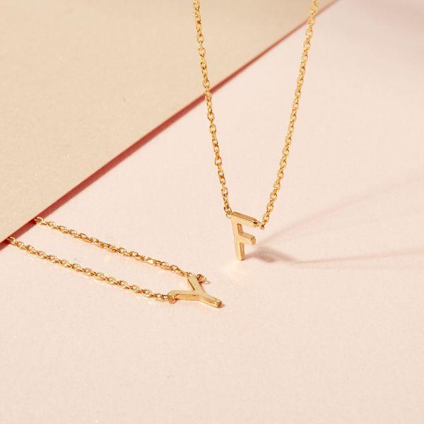 SARAH & SEBASTIAN jewellery featuring petite letter designs.
