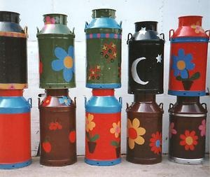 | Milk Churn Garden Planter for patio its painted L@@K ...LIKE...