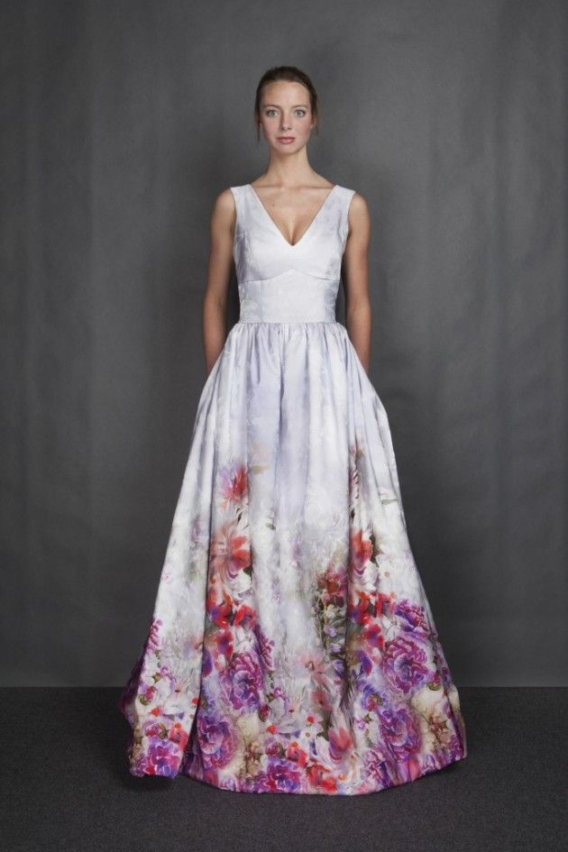 Wedding Dresses For Non Traditional : Bridesmaid dresses floral wedding dress