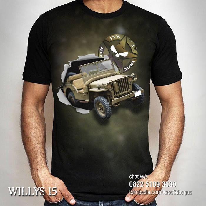 Kaos Jeep Willys Kaos Army Jeep Indonesia Kaos Jeep