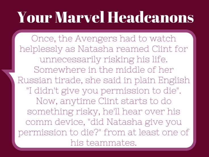 Your Marvel Headcannons. Avengers. Natasha Romanov (the Black Widow) and Clint Barton (Hawkeye).