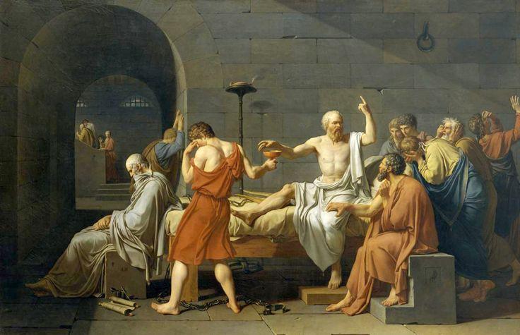 JACQUES-LOUIS DAVID. La muerte de Sócrates. 1787.