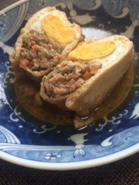 和風ミンチと卵の袋煮