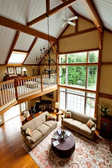 Inside+a+Barn+House | Yankee Barn Homes: tips for choosing the right interior paint colors.