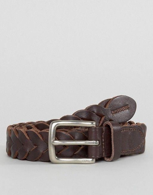 Polo Ralph Lauren Cinturón de cuero trenzado Marrón Hombre Cinturones   7700779-Hombre  - 828d31e1edb2