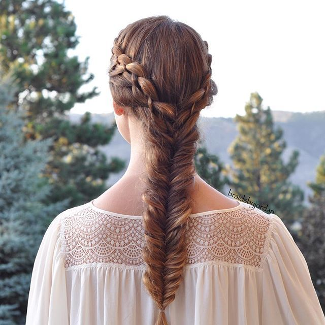 """""""Double 4-Strands into a Fishtail on myself today  #beachhaircontest"""" Photo taken by @braidsbyjordan on Instagram, pinned via the InstaPin iOS App! http://www.instapinapp.com (07/20/2015)"""