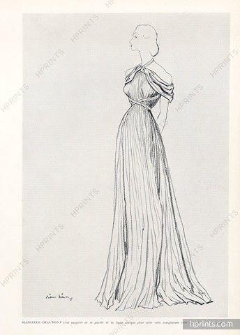 Marcelle Chaumont 1948 Pierre Simon, Evening Gown