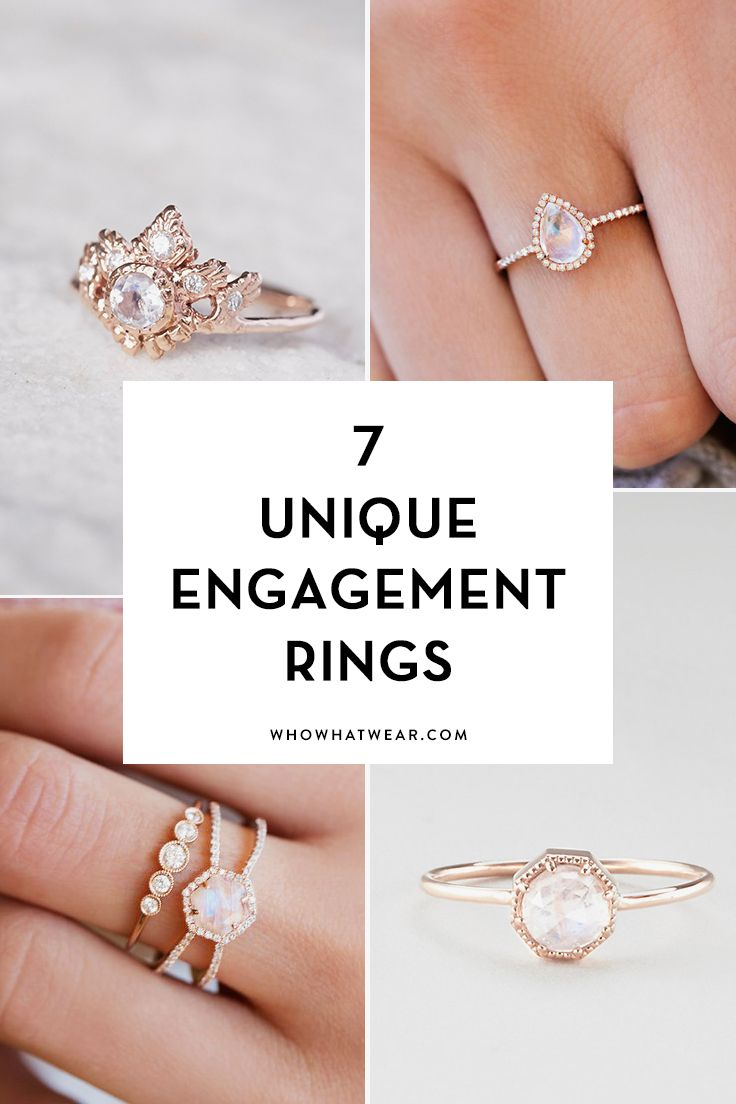 Unusual engagement rings cool girls are going to love.